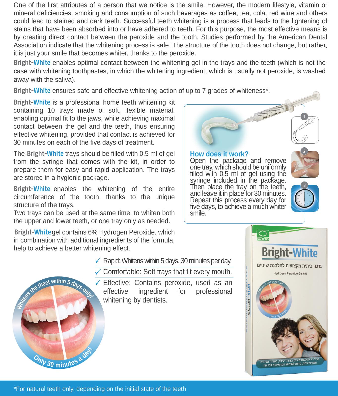 Bright White - Teeth whitening kit